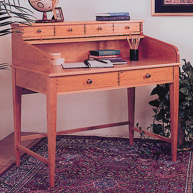 Rolltop Writing Desk Woodworking Plan Wood Magazine