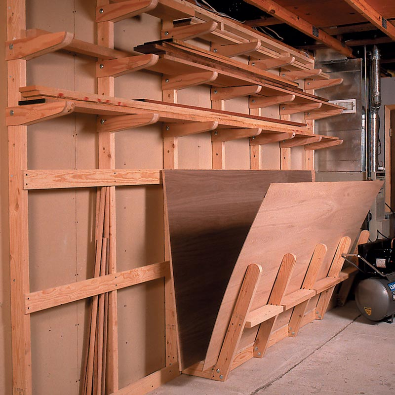 Lumber Storage Rack Woodworking Plan, Wood Storage Racks