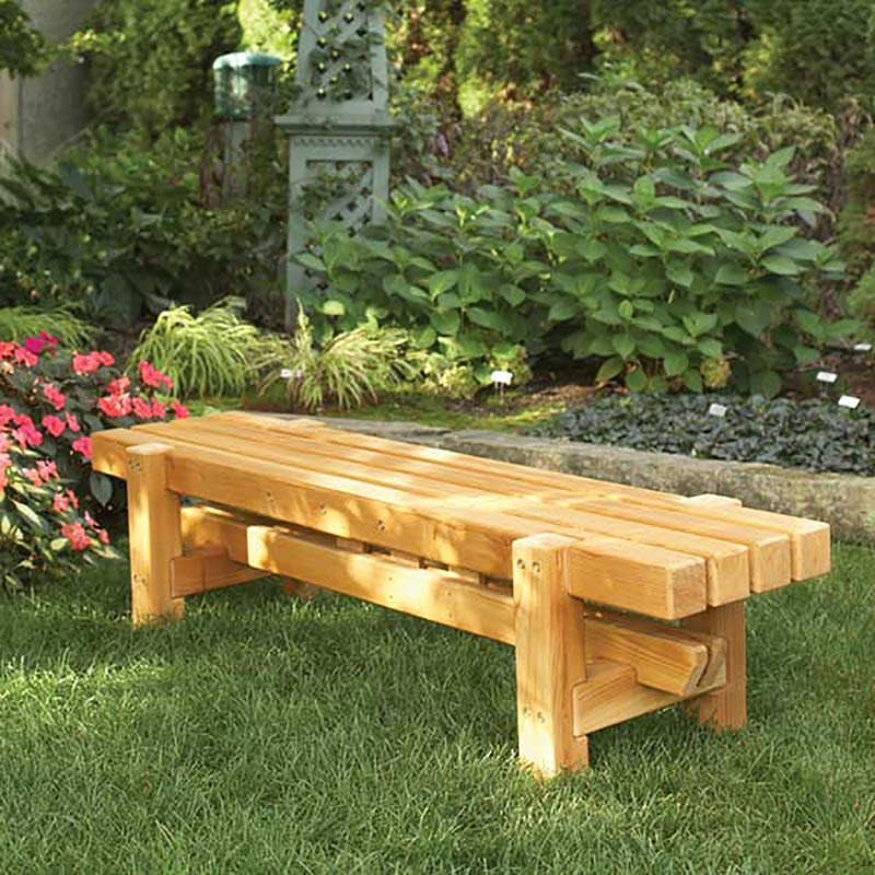 Durable Doable Outdoor Bench Woodworking Plan Wood Magazine