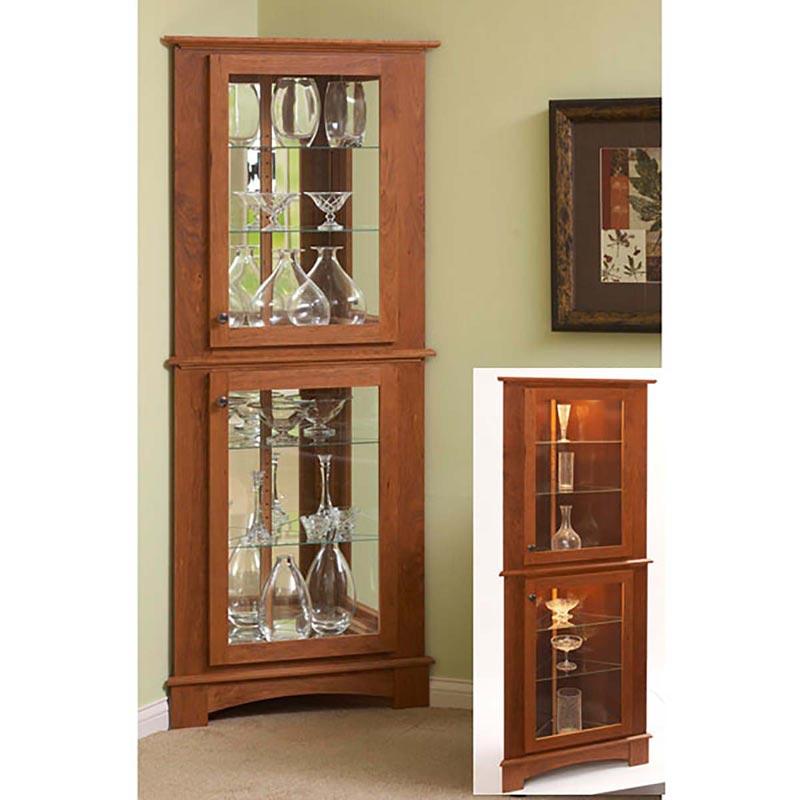 Corner Curio Cabinet Woodworking Plan, Curio Corner Cabinet