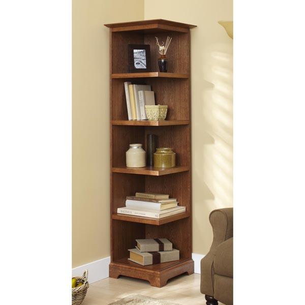 Corner Bookcase Woodworking Plan Wood, Corner Bookcase Furniture