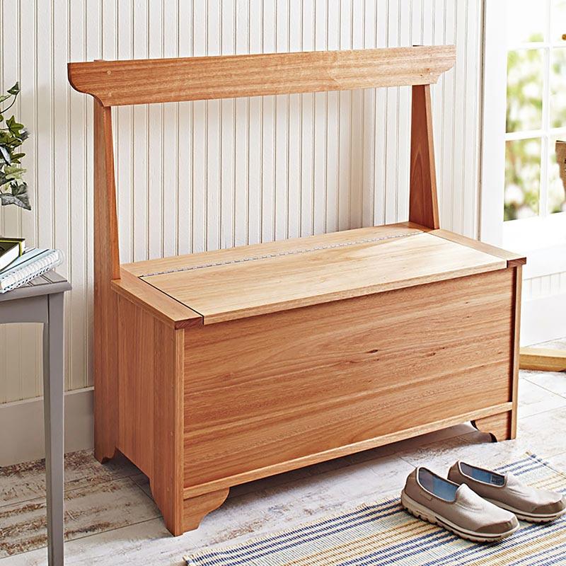 Indoor Outdoor Entry Hall Storage Bench Woodworking Plan Wood Magazine