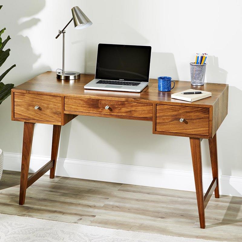 Modern Desk Woodworking Plan Wood Magazine