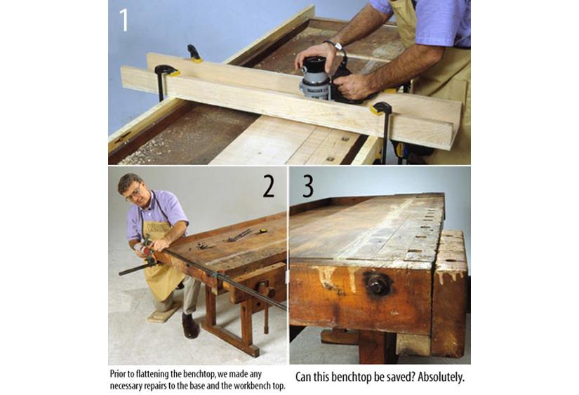 How To Flatten An Uneven Workbench Top - How To Flatten A Warped Table Top