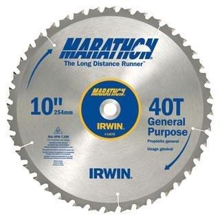 "Irwin Marathon 10"" 40T Tablesaw Blade"