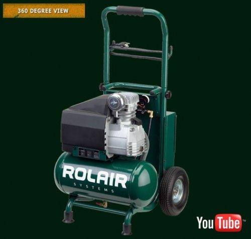 Rolair 3.2-gallon VT20TB wheeled compressor