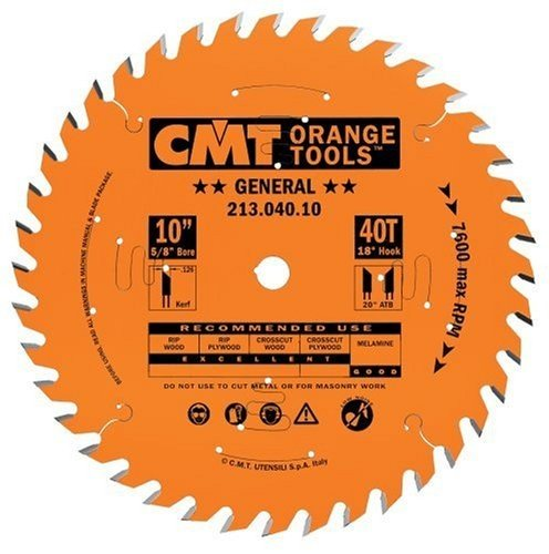 "CMT 10"" x 40 Tooth Tablesaw Blade"