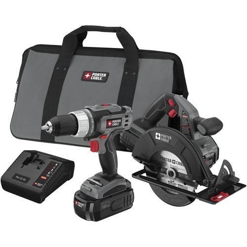 Porter-Cable 18V Ni-Cd 2-Tool Kit