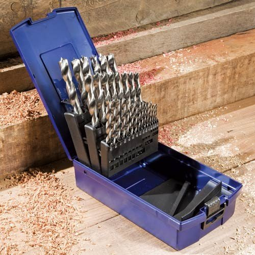 Rockler 25-Piece Brad-Point Bit Set