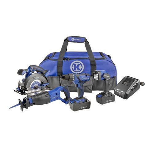 Kobalt 18V Ni-Cd 4-Tool Kit