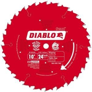 "Freud Diablo 10"" x 24 Tooth Carbide Circular Saw Blade"