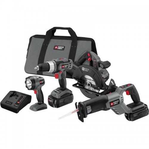 Porter-Cable 18-Volt Ni-Cd 4-Tool Combo Kit #PC418C-2