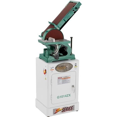 Grizzly G1014ZX Combo Sander with Cabinet Stand