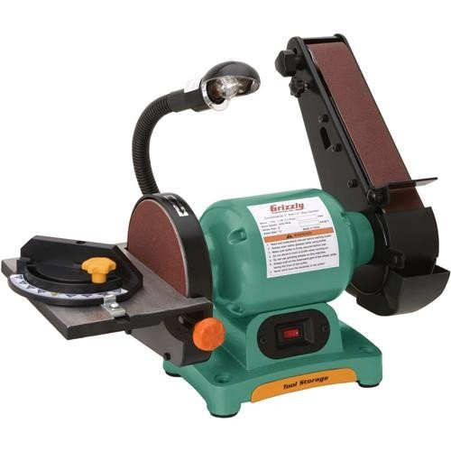"Grizzly H7761 Combo 2"" Belt/6"" Disc Sander"