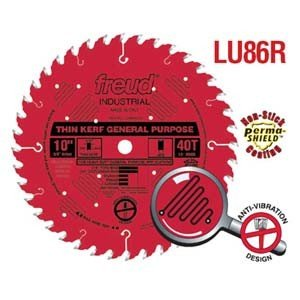 "Freud LU86R010 10"" x 40 Tooth General Purpose Saw Blade"