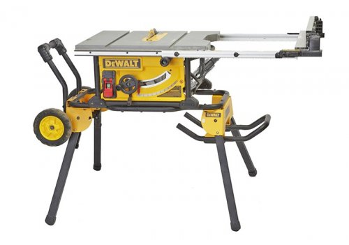 "DeWalt 10"" portable tablesaw with stand, #DWE7491RS"