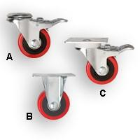 "Peachtree 4"" Double-Locking Casters"