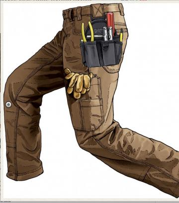Duluth Trading Men's DuluthFlex Ultimate Fire Hose Cargo Pants