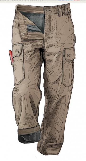 Duluth Trading Men's Fleece-Lined DuluthFlex Fire Hose Work Pants
