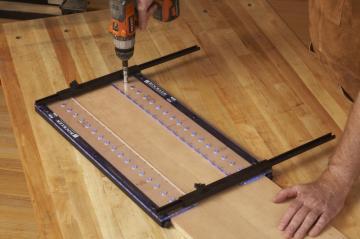 Rockler Pro Shelf Pin Drilling Jig