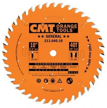 """CMT 10"""" x 40 Tooth Tablesaw Blade"""