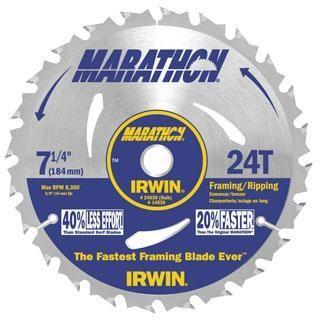"Irwin Marathon 7-1/4"" 24T Circular Saw Blade"