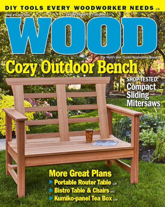 cover of WOOD magazine 275