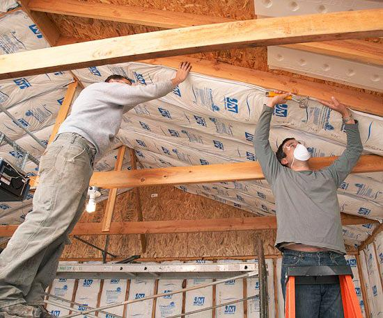 Insulation Never Easier Wood, How To Insulate A Garage Roof Rafters