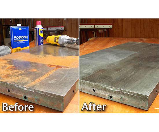 Bust Rust - How To Clean Rusty Metal Table Legs